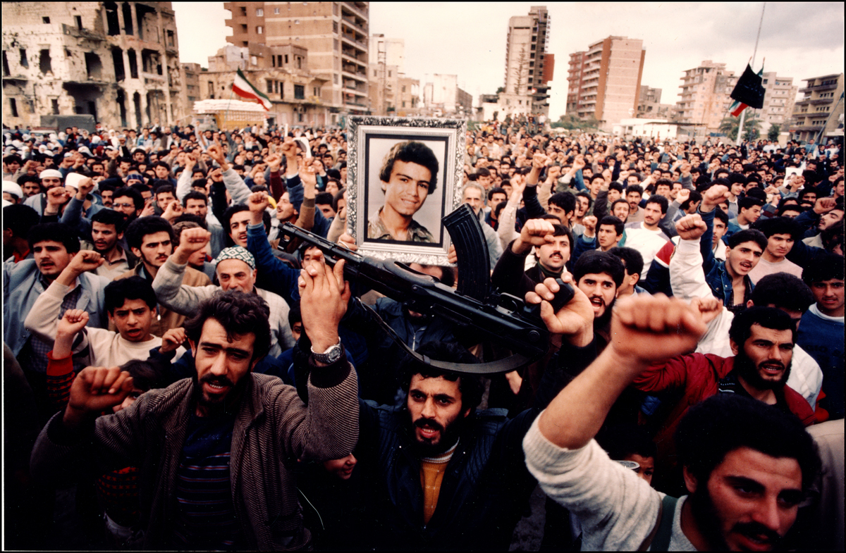 Hezbollah Rally in Sidon, South Lebanon,1984 : Lebanon 1981-2008 : BILL FOLEY