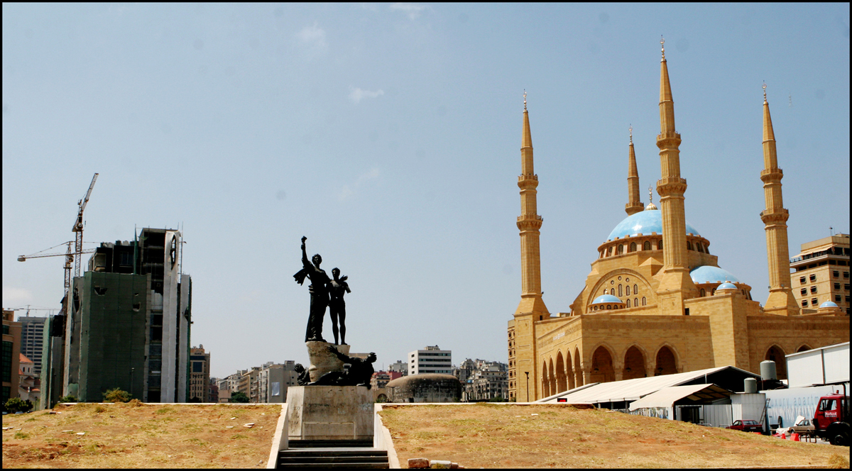 Martyr's Square, Hariri Mosque, Beirut 2008. : Lebanon 1981-2008 : BILL FOLEY