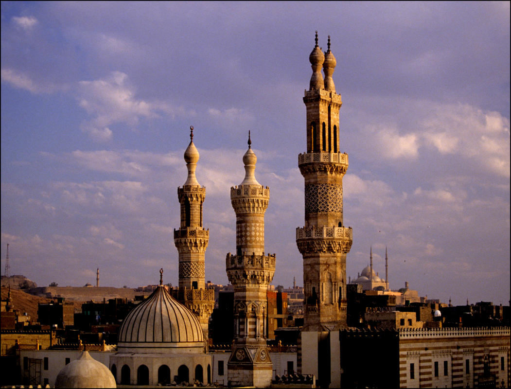 Minarets of Al Azhar and the Citadel in background. 1997