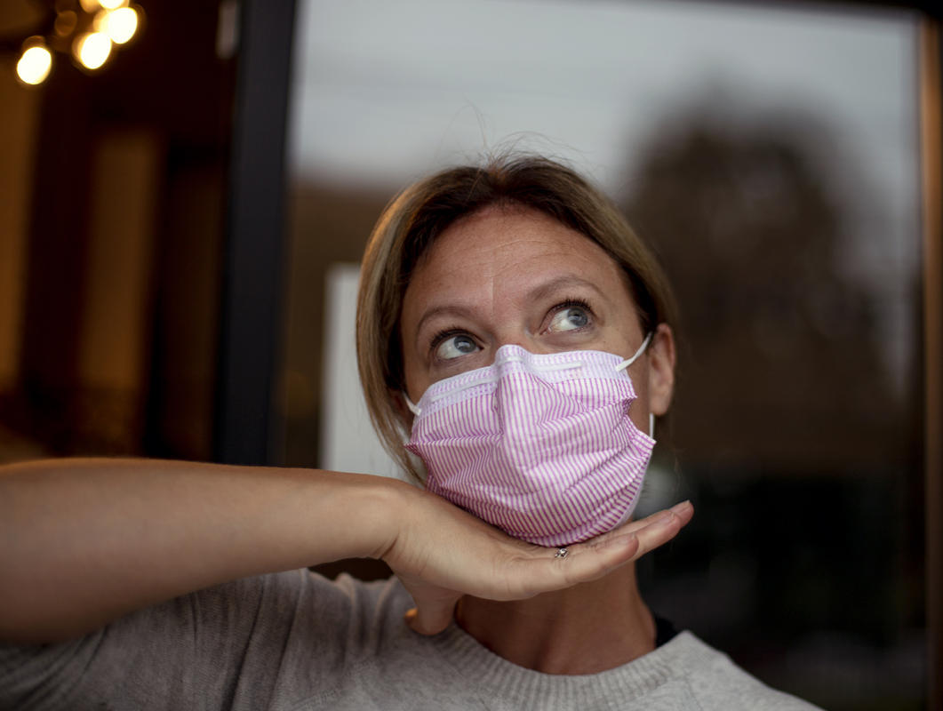 New Pink Mask 2020 : Portraits in a Pandemic-Masks on! : BILL FOLEY