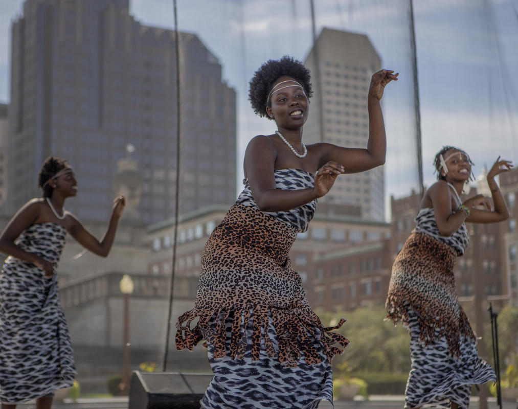 Haza Dance Troupe performs on the Festival of faith stage